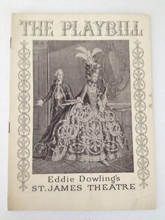 Playbill 1935 St James Theatre Broadway NYC