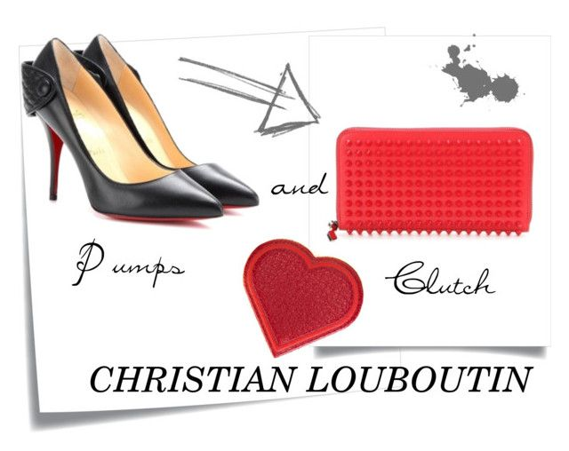 """Christian Louboutin"" by storetip on Polyvore featuring Post-It and Anya Hindmarch"