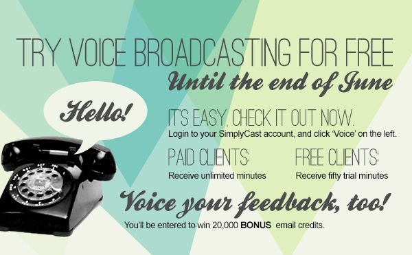Voice Broadcasting, try it for free!