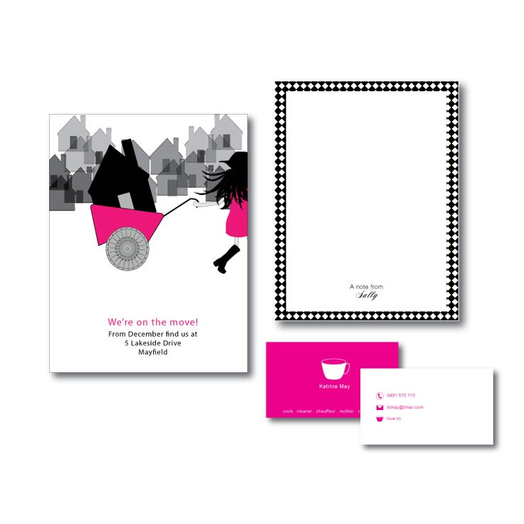 Pink balloons personal stationery