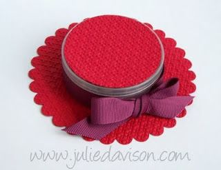 Julie's Stamping Spot -- Stampin' Up! Project Ideas Posted Daily: Red Hat Favor Box