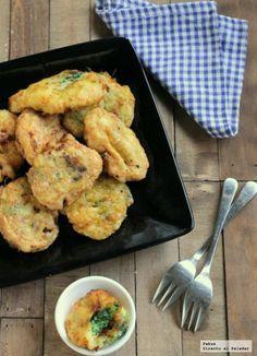 Receta sencilla de buñuelos de puré de patata y espinacas para guarnición o para aperitivo. Con fotos paso a paso y trucos para su elaboración ...