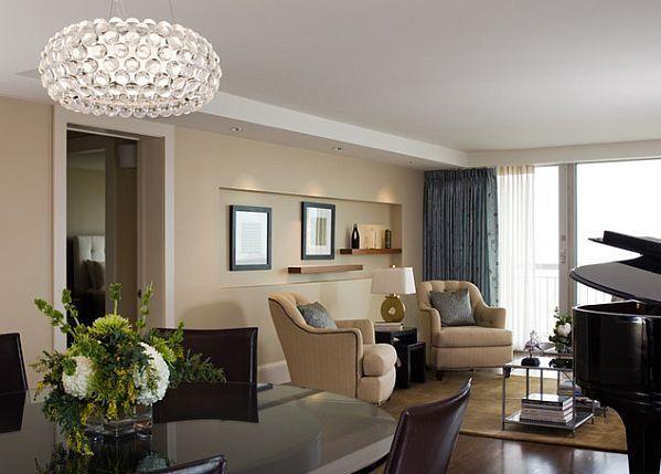 Suspended Light in Living Room Ideas > Living Room > HomeRevo.