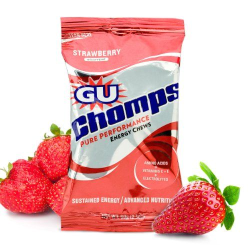 Gu Chomps, Strawberry, 16-Count | Multicityhealth.com  List Price: $35.20 Discount: $7.44 Sale Price: $27.76