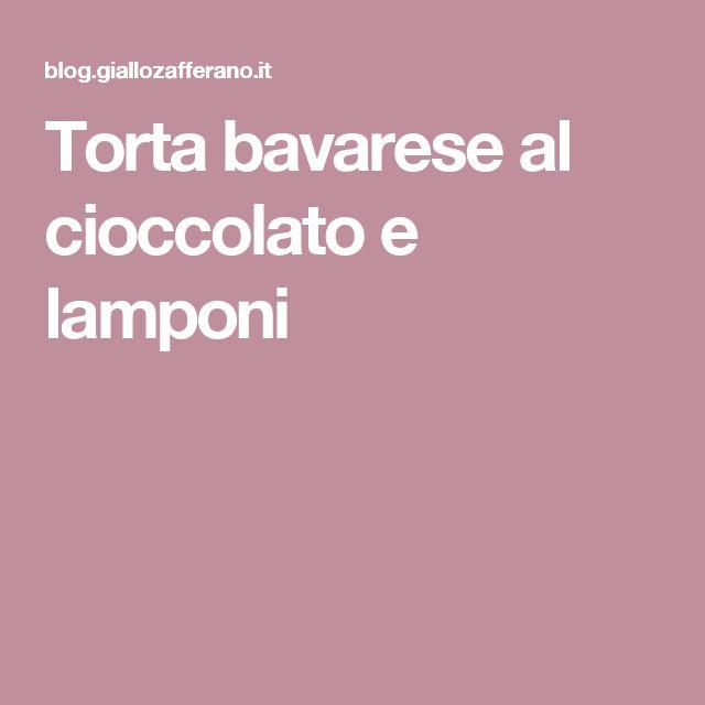 Torta bavarese al cioccolato e lamponi