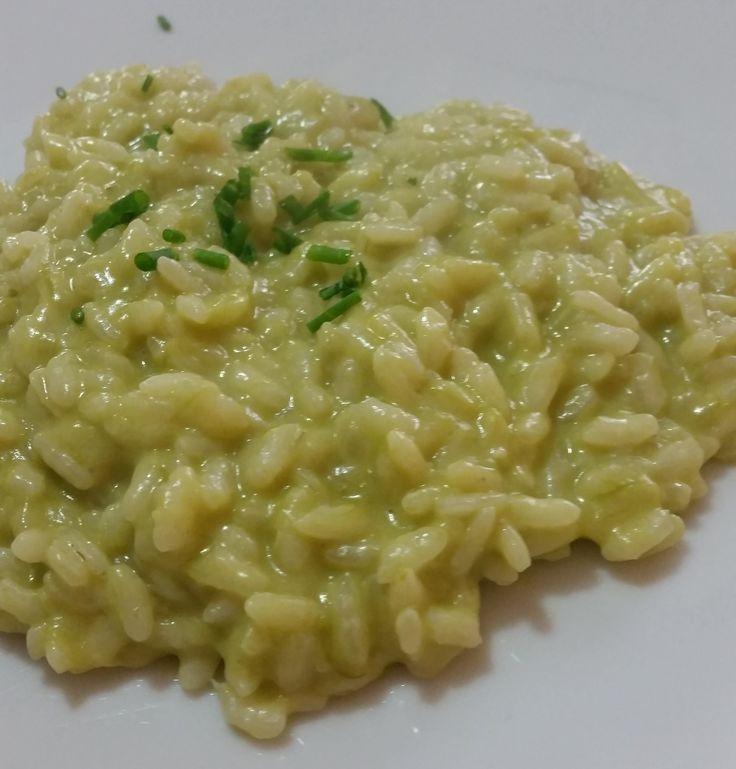 Risotto+con+crema+di+asparagi+ed+erba+cipollina