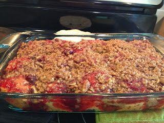 Strawberry Cinnamon Roll breakfast casserole