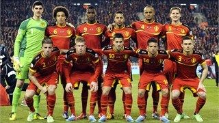 Belgium's national football team players pose
