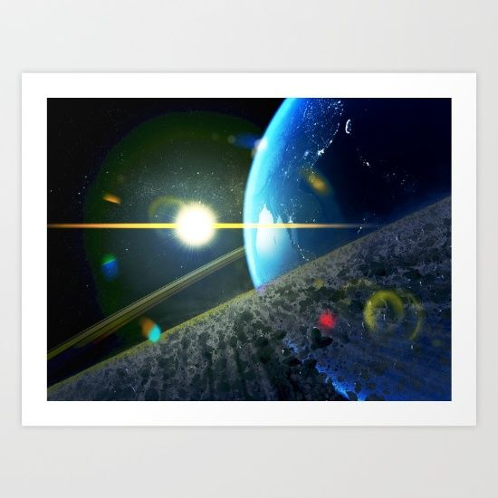 ASTEROID FIELD BELT ON EARTH. Collect your choice of gallery quality Giclée, or fine art prints custom trimmed by hand in a variety of sizes with a white border for framing.