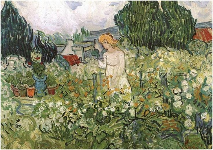Marguerite Gachet in the Garden by Vincent van Gogh Painting, Oil on Canvas Auvers-sur-Oise: June, 1890 - #art