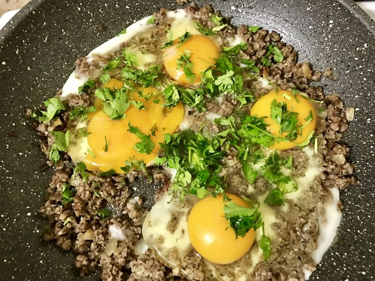 Eggs with minced Meat