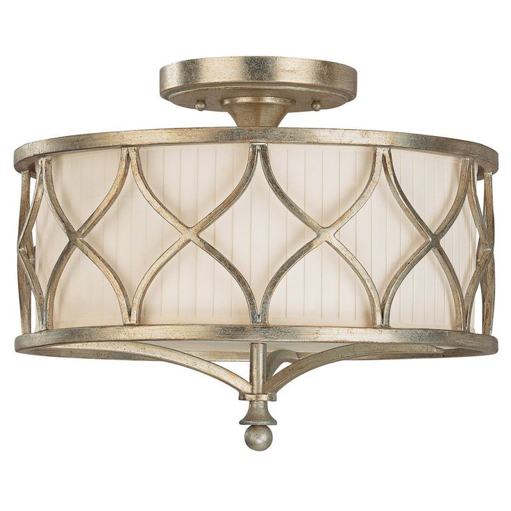 Features:  -Semi Flush Mount.  -Transitional style.  -UL listed for dry locations.  Product Type: -Semi flush mount.  Finish: -Winter Gold.  Number of Lights: -3.  Bulb Type: -Incandescent/LED/Compact
