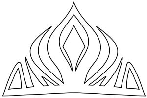 Elsa Crown Downloadable Template