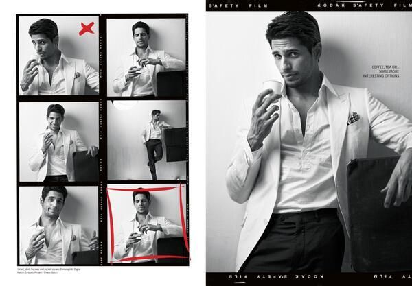 Sidharth Malhotra's Photoshoot for Filmfare
