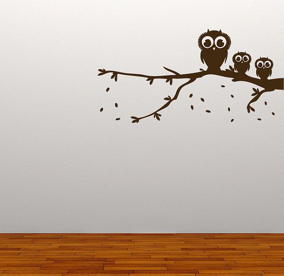 Owl On A Branch Wall Sticker Available in 2 Sizes: Regular - 100 cm wide Large - 150 cm wide Our Wall Stickers are made from quality vinyl and come ready to apply on application tape. Wall Stickers are becoming a very popular way to decorate and personalise your home, they are