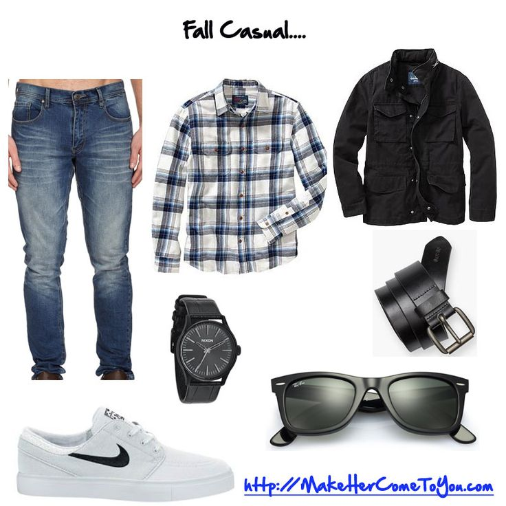 Simple fall casual outfit. Perfect for college campus or night at bar.   Shirt @oldnavy  Jeans @cottonon  Shoes @nike  Jacket @oldnavy  Sunglasses @rayban  Watch @nixon  Belt @levis   Free PDF - http://makehercometoyou.com   #mensstyle #mensfashion #mensstreetstyle #dapper #streetstyle #wiwt #mensstyleguide #instafashion #handsomeguysecrets #teamhandsomeguy #datingadvice #firstdate #whathewore #whattowear #mystyle #nikesb #nikesbjanoski #janoskisb #nixon #menswatches