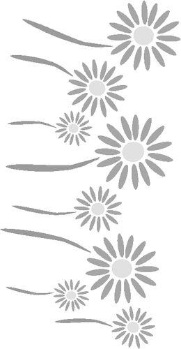 Free Flower Stencil: Daisy Border