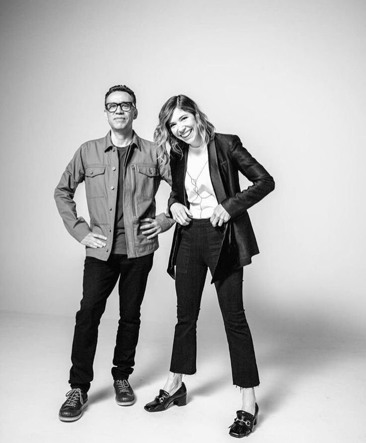 "wildflags: "" Carrie Brownstein and Fred Armisen ig @ alexandravalenti """