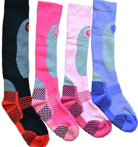 Ski Socks Womens 4 Pairs Thermal Socks Size US 6595 Multicoloured -- Find out more about the great product at the image link.(This is an Amazon affiliate link)