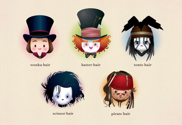 Johnny Depp, y sus múltiples caras.