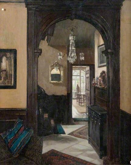 Mary Dawson Elwell (British, 1874–1952)  Interior
