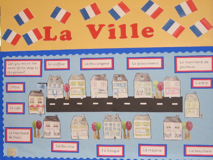 La Ville classroom display photo - Photo gallery - SparkleBox