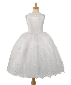 Christie Helene First Communion Dress - Couture Collection McKenzie - Lace and Organza Full Skirt