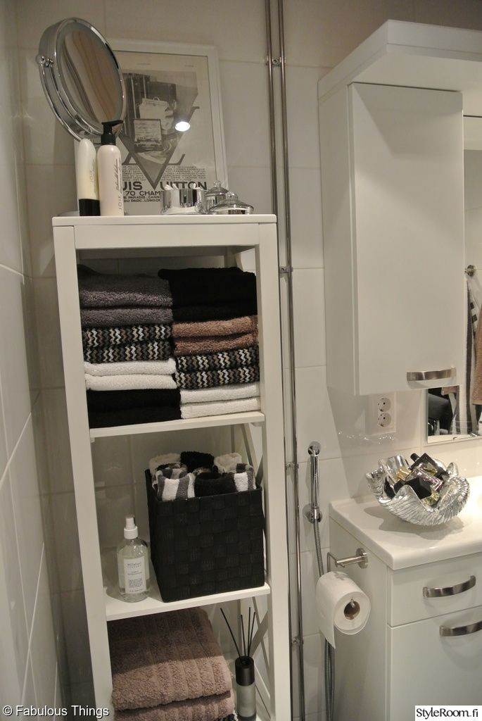 kylpyhuone,kylpyhuoneen sisustus,säilytys,hylly