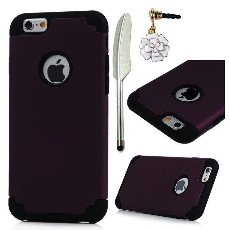 """iPhone 6 Plus/iPhone 6S Plus Case (5.5""""),MOLLYCOOCLE 2 in 1 Hybrid High Impact Heavy Duty Dual Layer Hard PC Outer Shell Soft Rubber Inner Armor Defender Cover for iPhone 6 Plus & 6S Plus,Purple/Black. Black Friday DEALS -- Compatible with iPhone 6 Plus/iPhone 6S Plus- Verizon, AT&T, Sprint, T-Mobile, International, and Unlocked. Unique design:It is thoughtfully selected and carefully placed to create a dynamic shimmer, adding further distinction and a unique, elegant look. Dynamic…"""