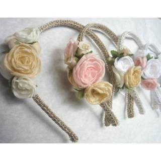 Vinchas Con Flores De Tela Para Princesas, Romanticas