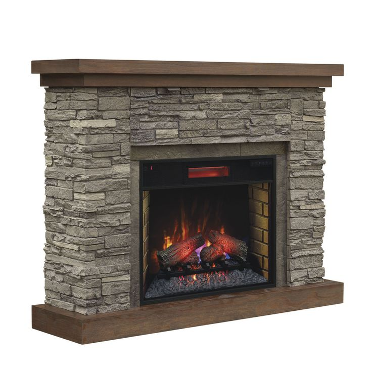 Chimney free 54in w brown ash infrared quartz electric
