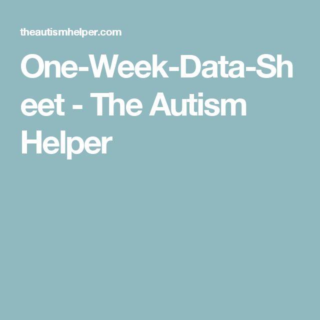 One-Week-Data-Sheet - The Autism Helper