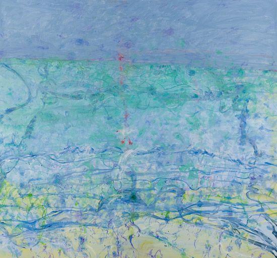 """""""Bondi-The Rose Fingered Dawn"""" by John Olsen  oil on linen 199x 214 cm."""