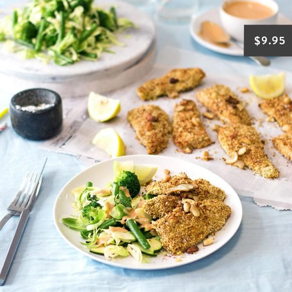 YouFoodz | Quinoa Crusted Fish and Mac Sauce $9.95 | Fish fillets and coated them in the perfect crunchy quinoa mix. We've paired this with a mean & green combo of broc, green beans, zucchini & brussel sprouts | #Youfoodz #HomeDelivery #YoullNeverEatFrozenAgain