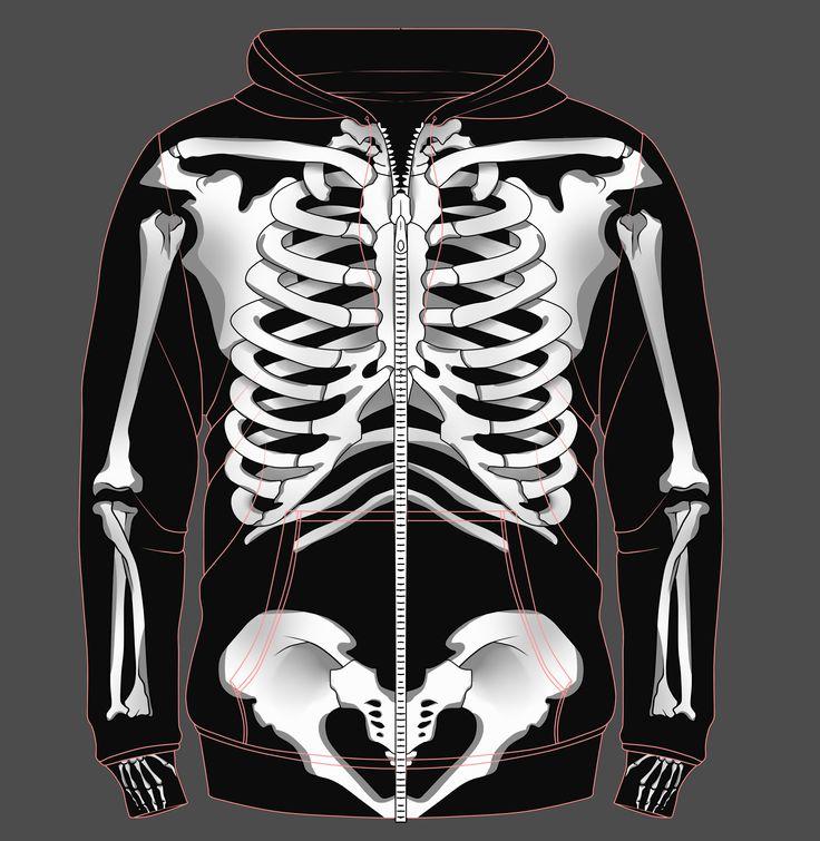 Skeleton Sweater (front) ♥ ~ bj BJR
