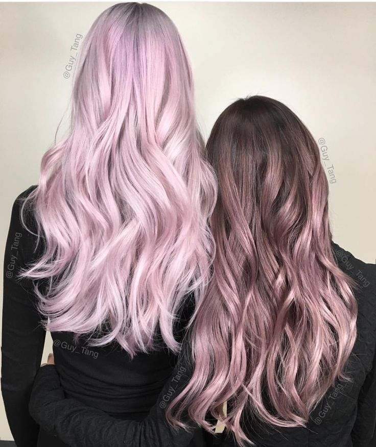 Metallic pink hair color and metallic rose hair color designs by Guy Tang hotonbeauty.com