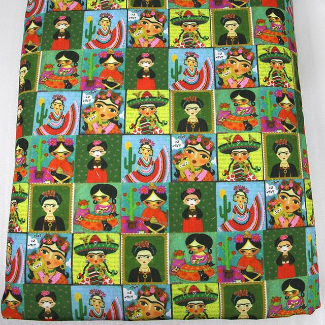 50*145CM Cartoon printed Polyester cotton fabric for Tissue Kids Bedding home textile for Sewing Tilda Doll,c577