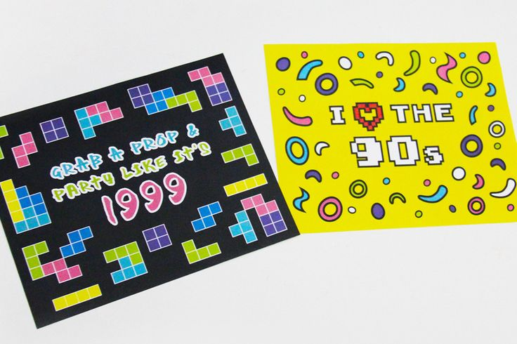 Party Like it's 1999 prop signage and I ❤ the 90s Signage  | Creative Sense Co