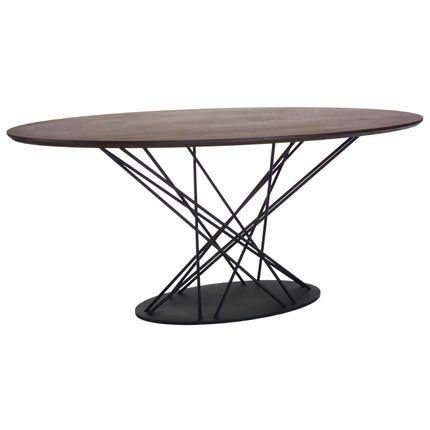 Mikado, table de salle à manger en plaqué noyer et MDF - Habitat