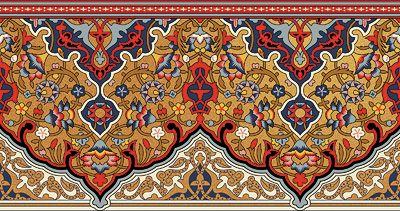 Bradbury Persian Fringe Wallpaper Border   Eastern Style Designs