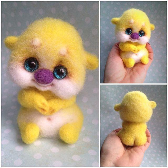"""Последний в этом году малышуня """"Щастье"""" ИЩЕТ ДОМ по всем вопросам в директ или Whatsapp #авторскаяработа #игрушкиручнойработы #валяние #livemaster #wooltoy #baby #mimimi #sweet #artisttoy #arttoy #happiness #happy #sale #needlefelting"""