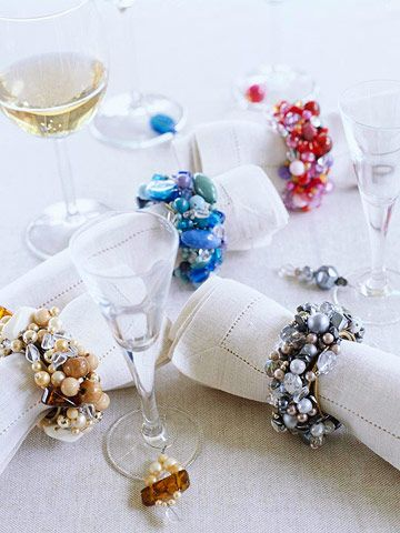 Beautiful Beaded Napkin Rings