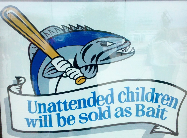 Sign at Bridgeport Bluefish game