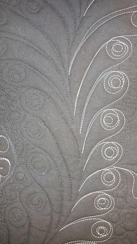 #fairyquilt #quilting #quiltingdesign #longarm #quiltingstencil #featherquilt