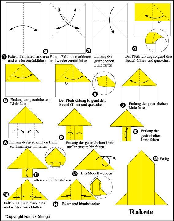 Origami Brief (Rakete)