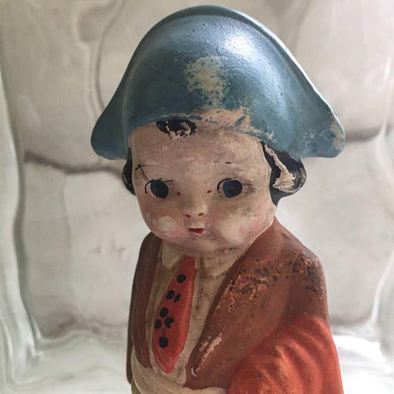 Vintage Dolly Dingle/Frozen Charlotte Bisque Kewpie Doll Made