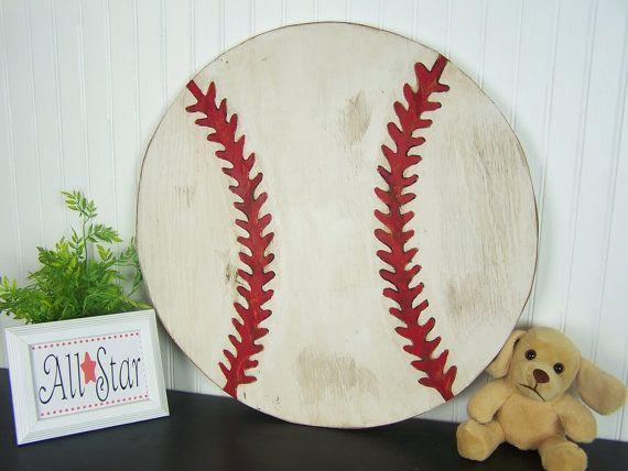 Wooden Baseball Sign Baseball Wall Decor Boys Room Decor Baseball Decor  Kids Room Decor Sports Nursery