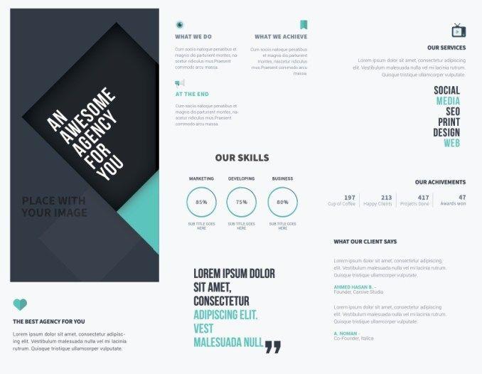 Best Brochure Designs Images On   Flyer Design