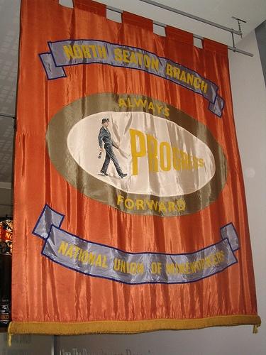 North Seaton banner at Woodhorn, Northumberland