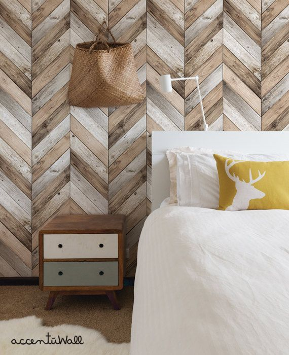 Chevron Wood Peel U0026 Stick Fabric Wallpaper. This Re Positionable Wallpaper  Is Designed And
